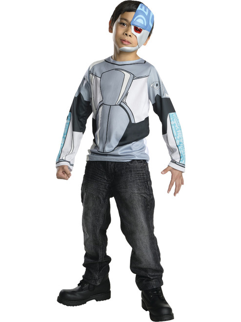 Halloween Costume 77084.Kid S Teen Titans Cyborg Costume Top