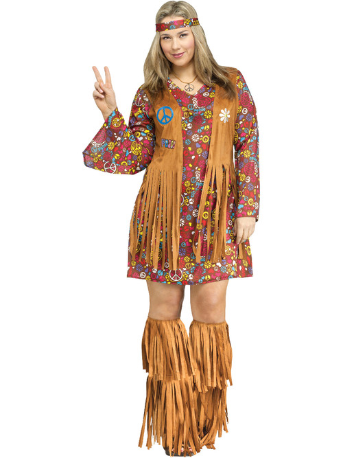 Womens Peace And Love Dress Plus Size 16-20