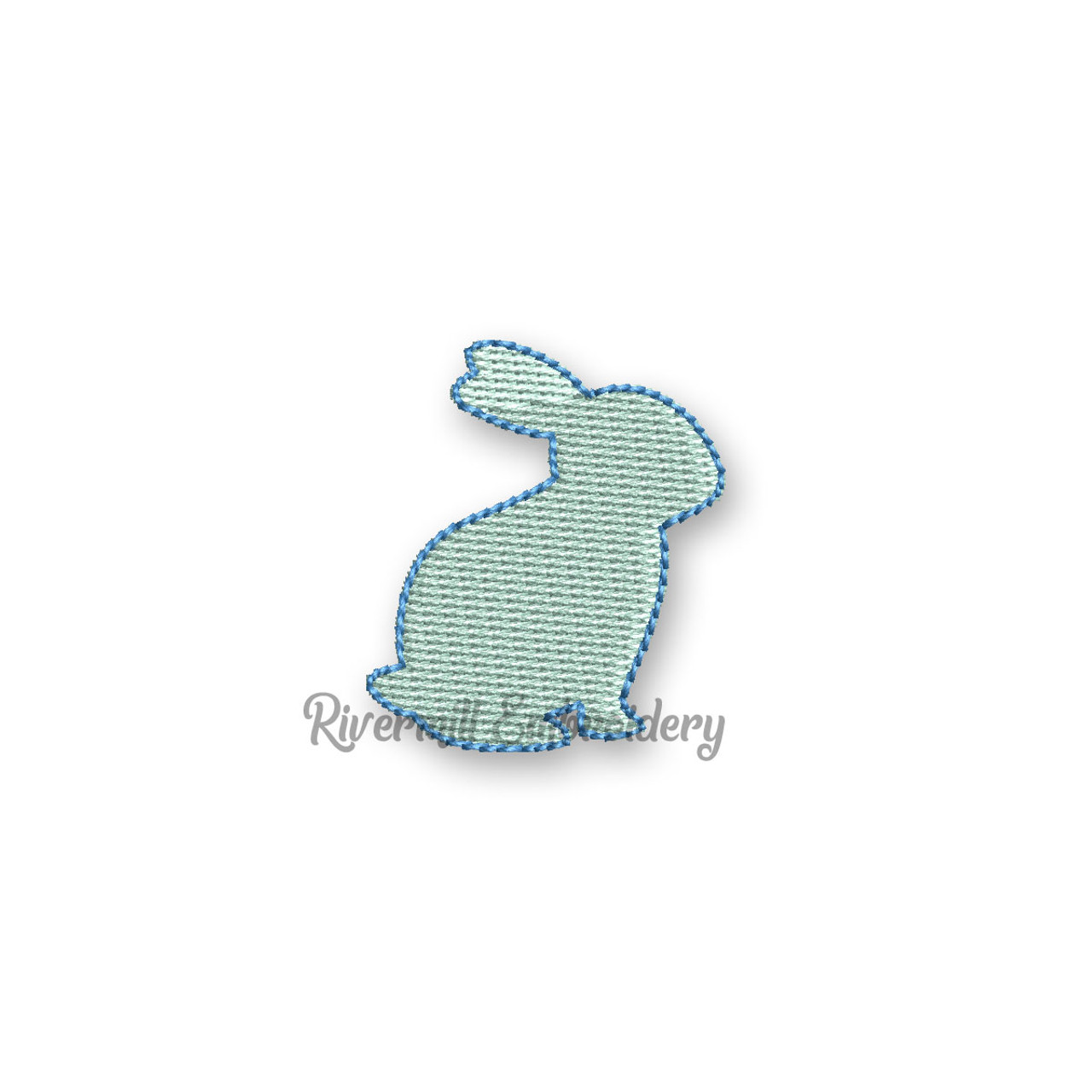 Machine Embroidery Design Silhouette rabbit Embroidery designs hare  bunny embroidery designs Animal embroidery Mini hare embroidery design