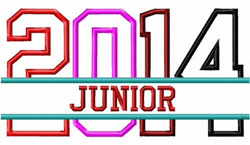Split Junior 2014 Applique Machine Embroidery Design