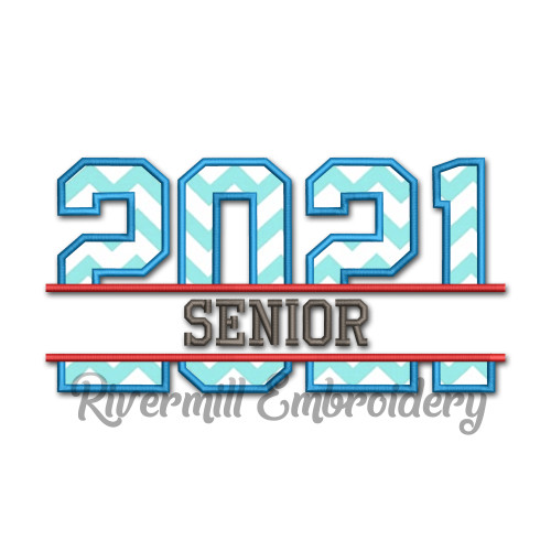 Split Senior 2021 Applique Machine Embroidery Design