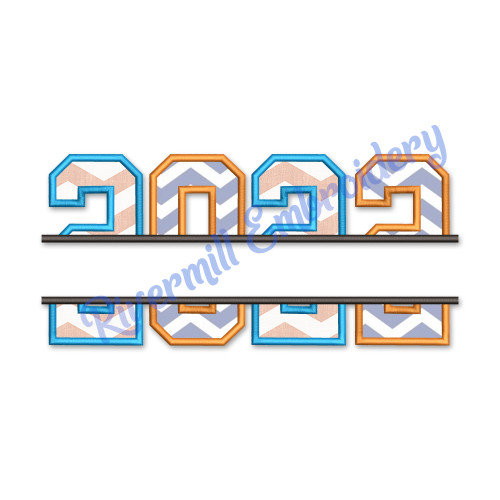 Split 2022 Applique Machine Embroidery Design