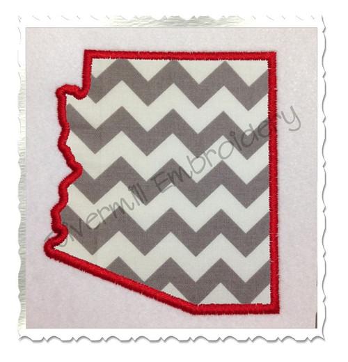 Applique State of Arizona Machine Embroidery Design
