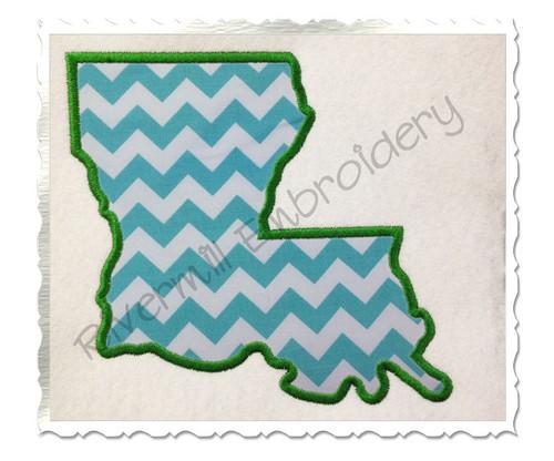 Applique State of Louisiana Machine Embroidery Design