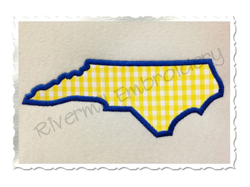 Applique State of North Carolina Machine Embroidery Design