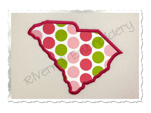 Applique State of South Carolina Machine Embroidery Design