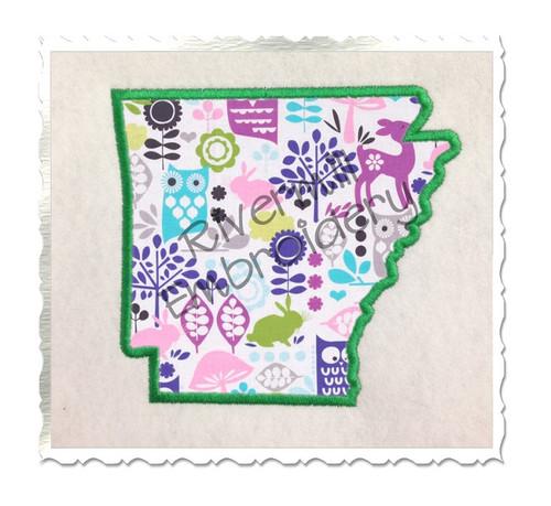 Applique State of Arkansas Machine Embroidery Design