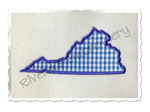 Applique State of Virginia Machine Embroidery Design