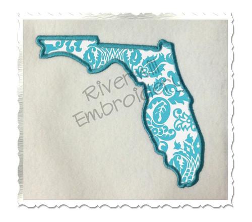 Applique State of Florida Machine Embroidery Design