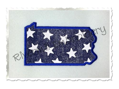 Applique State of Pennsylvania Machine Embroidery Design