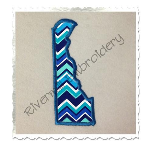 Applique State of Delaware Machine Embroidery Design
