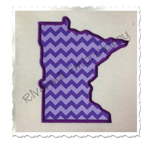 Applique State of Minnesota Machine Embroidery Design