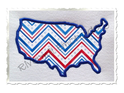 Applique United States USA Machine Embroidery Design