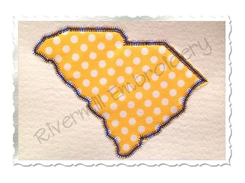 Zig Zag Applique State of South Carolina Machine Embroidery Design