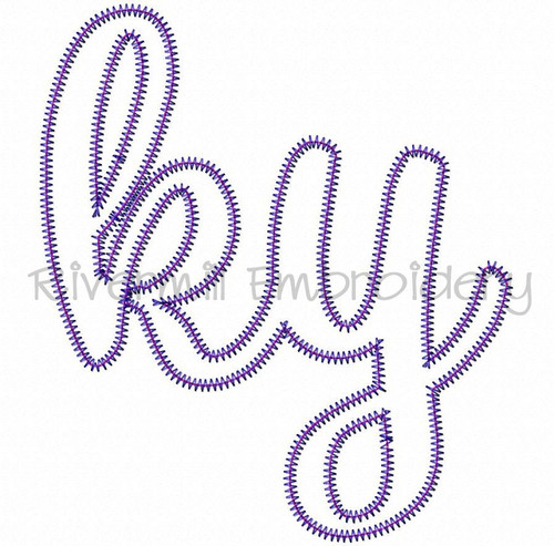 "Zig Zag Applique Kentucky ""ky"" Machine Embroidery Design"