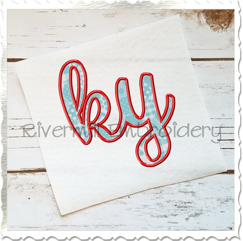 "Applique Kentucky ""ky"" Machine Embroidery Design"