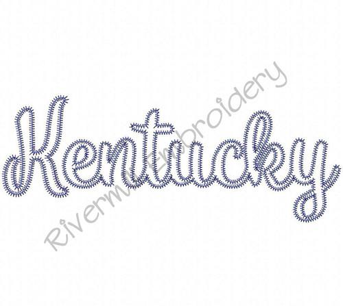 Large Zig Zag Applique Kentucky Machine Embroidery Design