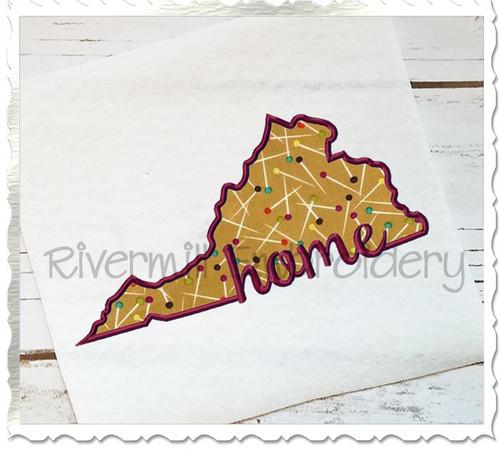 Applique Virginia Home Machine Embroidery Design