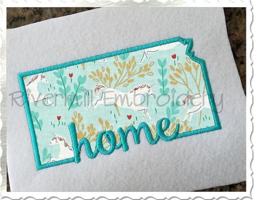 Applique Kansas Home Machine Embroidery Design