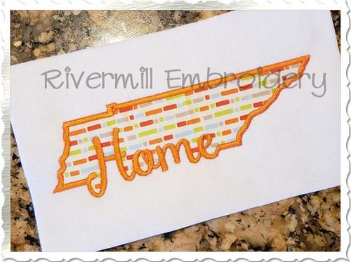 Applique Tennessee Home Machine Embroidery Design
