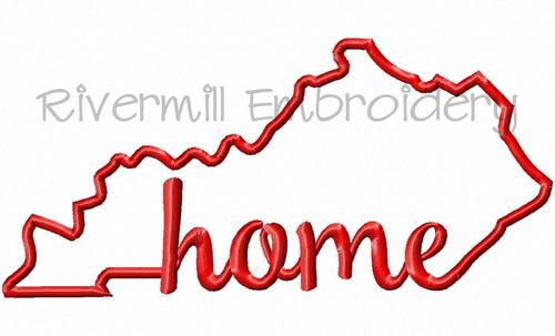 Applique Kentucky Home Machine Embroidery Design