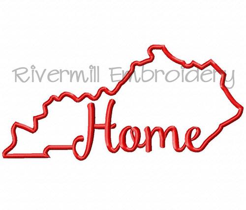 Applique Kentucky Home Version 2 Machine Embroidery Design