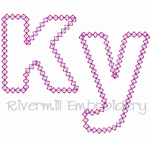 Diamond Applique Kentucky Ky Machine Embroidery Design
