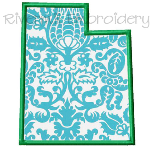 Applique State of Utah Machine Embroidery Design