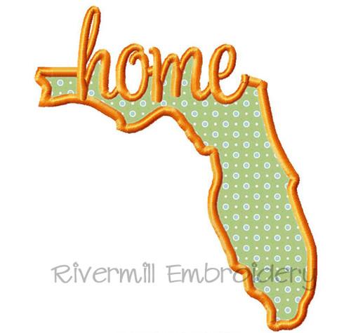 Applique Florida Home Machine Embroidery Design