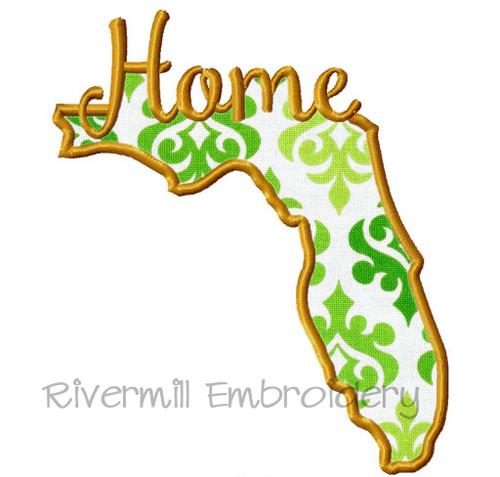 Applique Florida Home Machine Embroidery Design (Style 2)