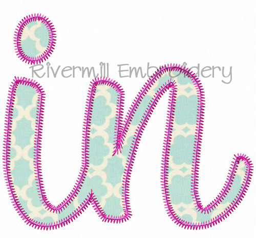 "Zig Zag Applique Indiana ""in"" Machine Embroidery Design"