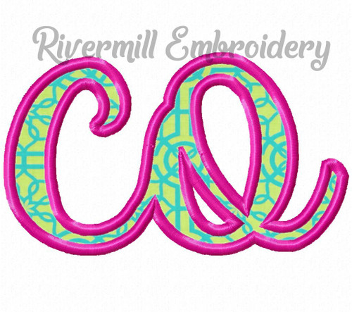 "Applique Colorado ""co"" Machine Embroidery Design"