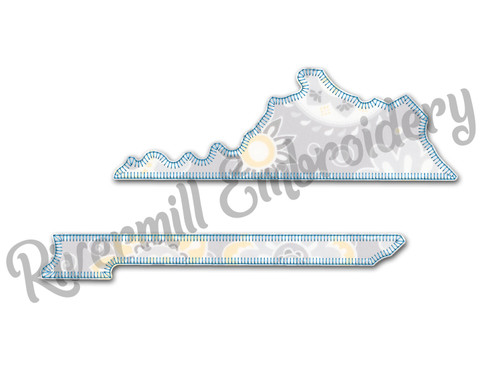 Blanket Stitch Applique Split Kentucky Machine Embroidery Design