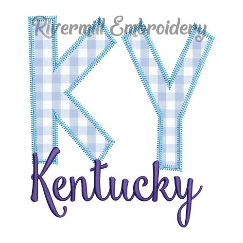 Zig Zag Applique Kentucky KY Machine Embroidery Design