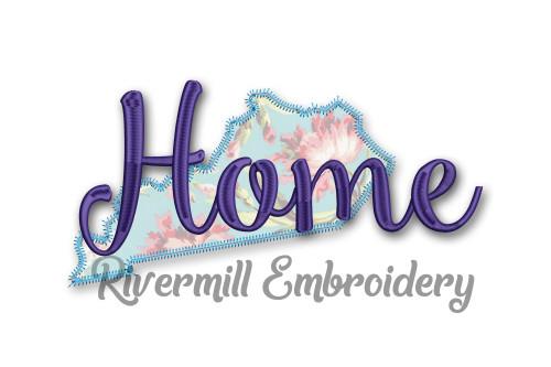 Zig Zag Applique Kentucky Home Machine Embroidery Design