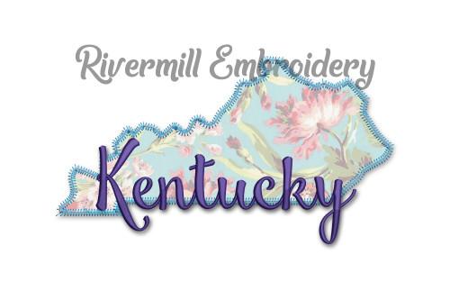 Zig Zag Applique Kentucky State Machine Embroidery Design