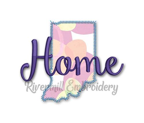 Zig Zag Applique Indiana Home Machine Embroidery Design