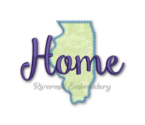 Zig Zag Applique Illinois Home Machine Embroidery Design