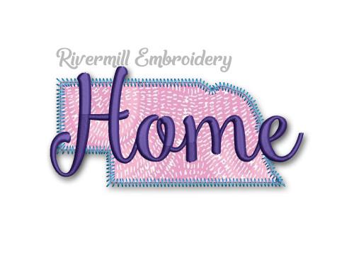 Zig Zag Applique Nebraska Home Machine Embroidery Design