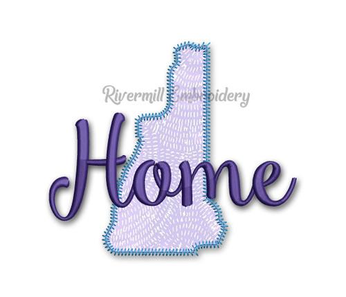 Zig Zag Applique New Hampshire Home Machine Embroidery Design