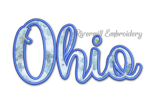 Applique Ohio Machine Embroidery Design