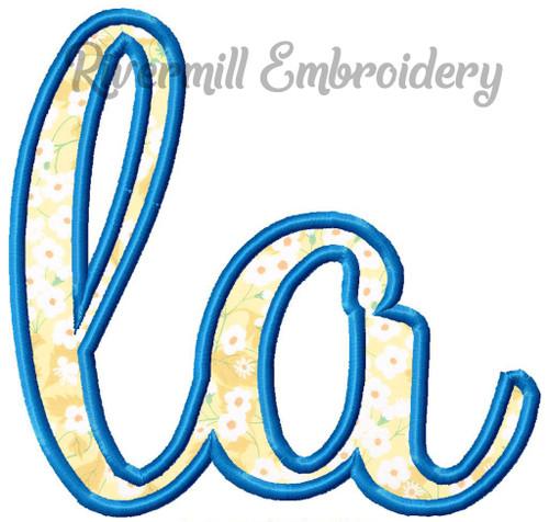 """Applique Louisiana """"la"""" Machine Embroidery Design"""