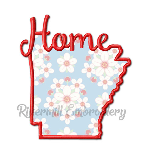 Applique Arkansas Home Machine Embroidery Design