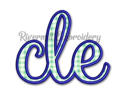 "Applique ""cle"" Cleveland Ohio Machine Embroidery Design"