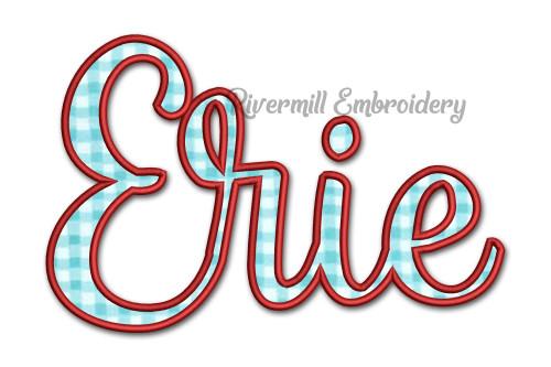 Applique Erie Ohio Machine Embroidery Design