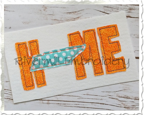 Raggy Applique Tennessee Home Machine Embroidery Design