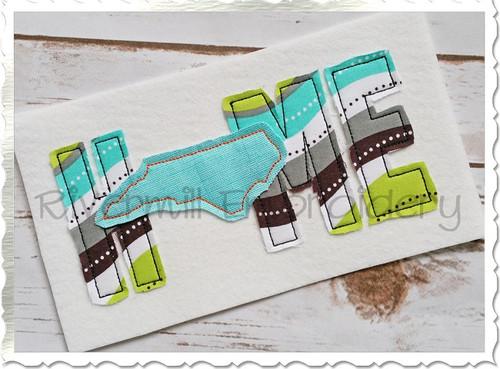 Raggy Applique North Carolina Home Machine Embroidery Design