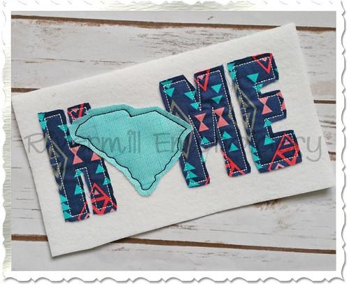 Raggy Applique South Carolina Home Machine Embroidery Design