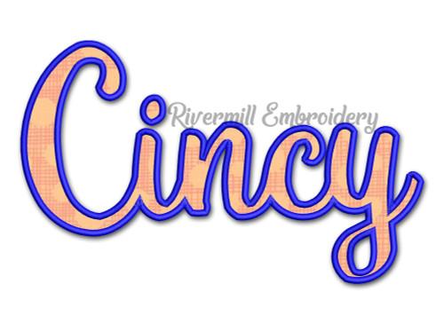 Applique Cincy Cincinnati Ohio Machine Embroidery Design