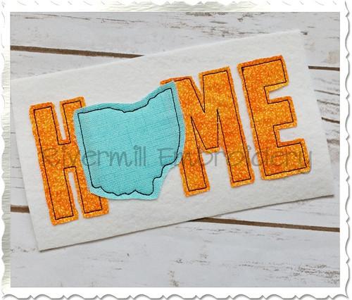 Raggy Applique Ohio Home Machine Embroidery Design